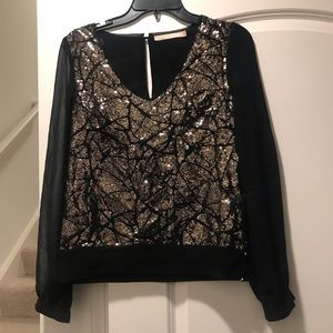 Stunning gold sequin blouse
